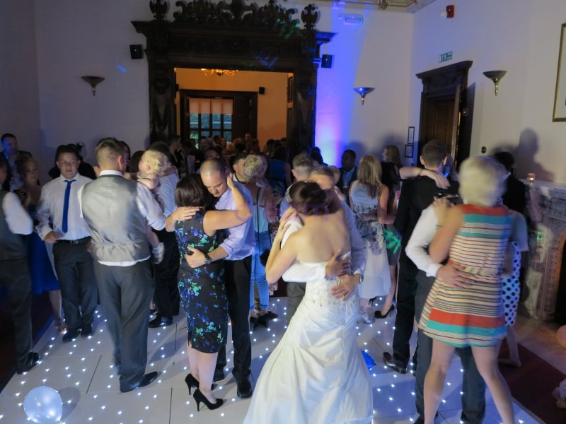 Disco with White LED Dance floor