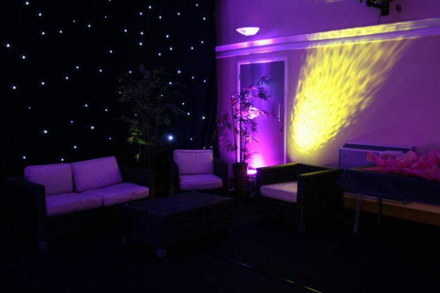 Furniture, Starlit Backdrops and Uplighting