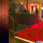 Post & Rope, red carpet and Flame Torches