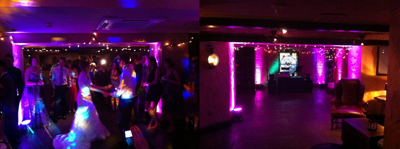 kilworth house cellar bar wedding dj disco dancefloor uplighting